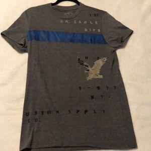 American Eagle short sleeve gray men's T-shirt